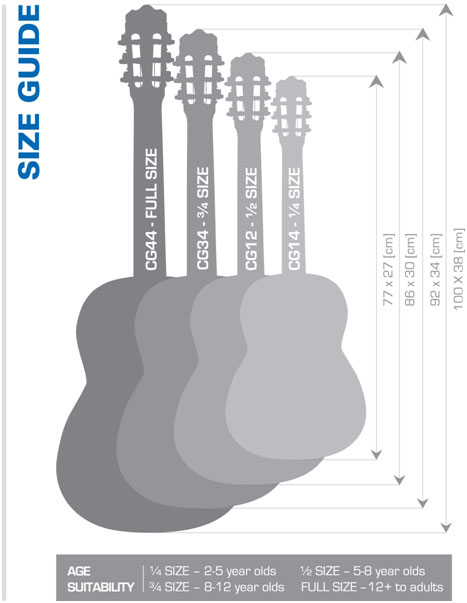 7a57e6c851f ... full-size guitars where experienced players have a good idea of the size  of neck that is comfortable for them. It should be noted that classical  guitars ...